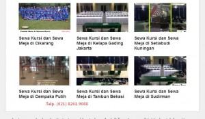 Persewaan meja di Jakarta
